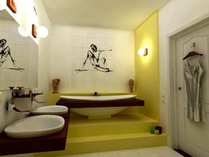 ремонт в ванной для женщины
