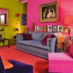 разноцветный интерьер