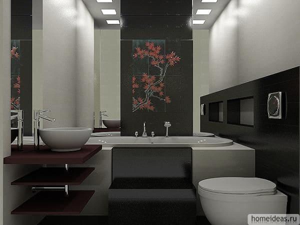 Ванная комната вяпонском стиле4