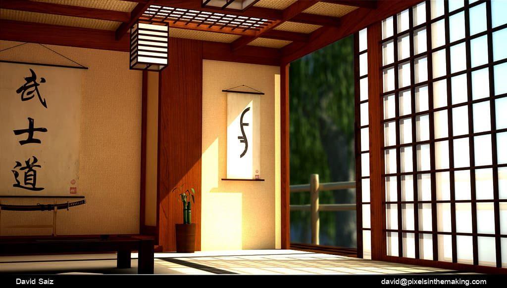 интерьер японской бани