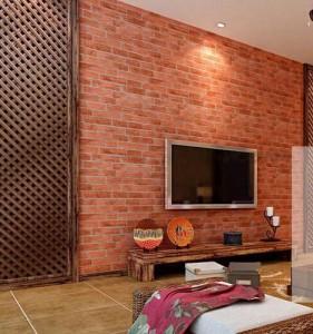 стена с декоративным кирпичом